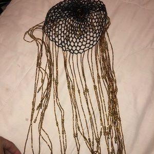 Cleopatra/Egyptian head jewel ,necklace, purse 👜